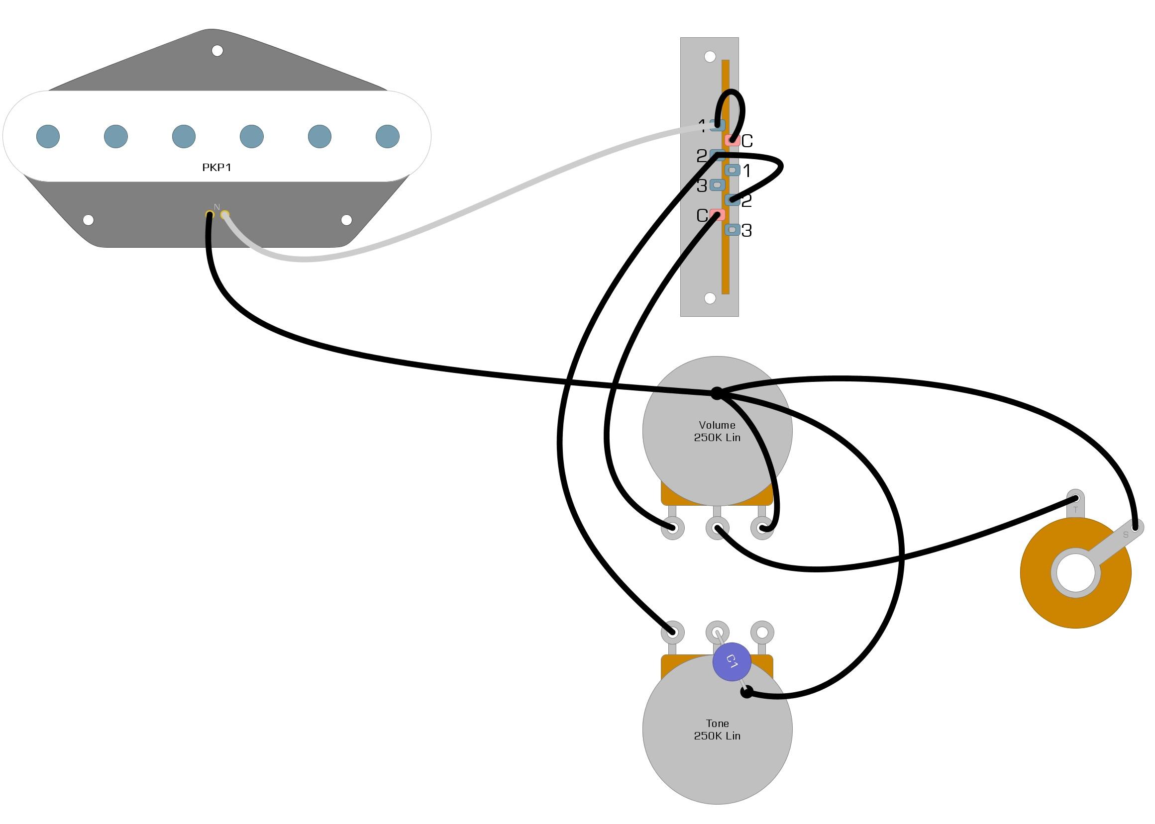 Single Pickup Telecaster Wiring Diagram Humbucker Soup