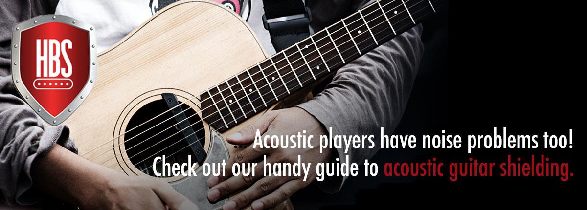 acoustic guitar shielding