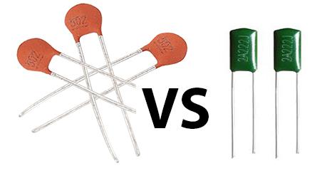 ceramic disc vs mylar capacitors