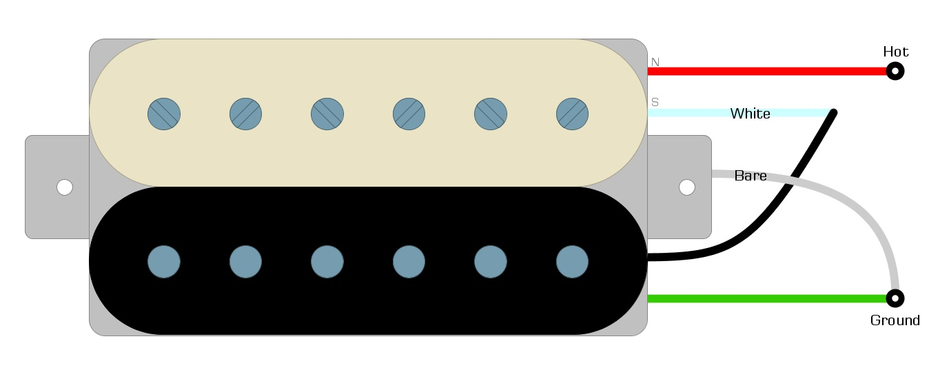 Dimarzio Paf Master Coil Splitting, Coil Tap Wiring Diagram