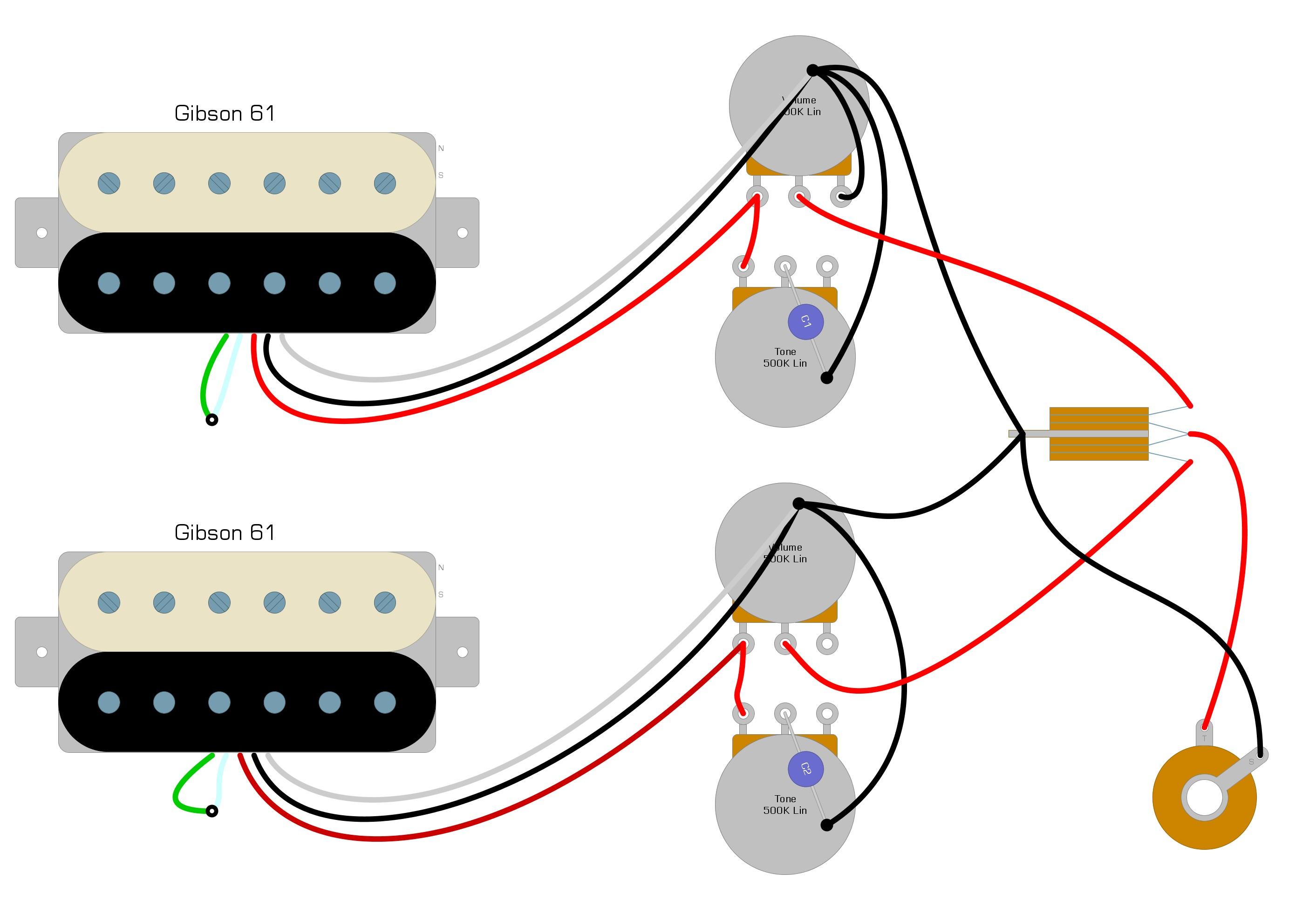 gibson 61 wiring diagram – humbucker soup  humbucker soup