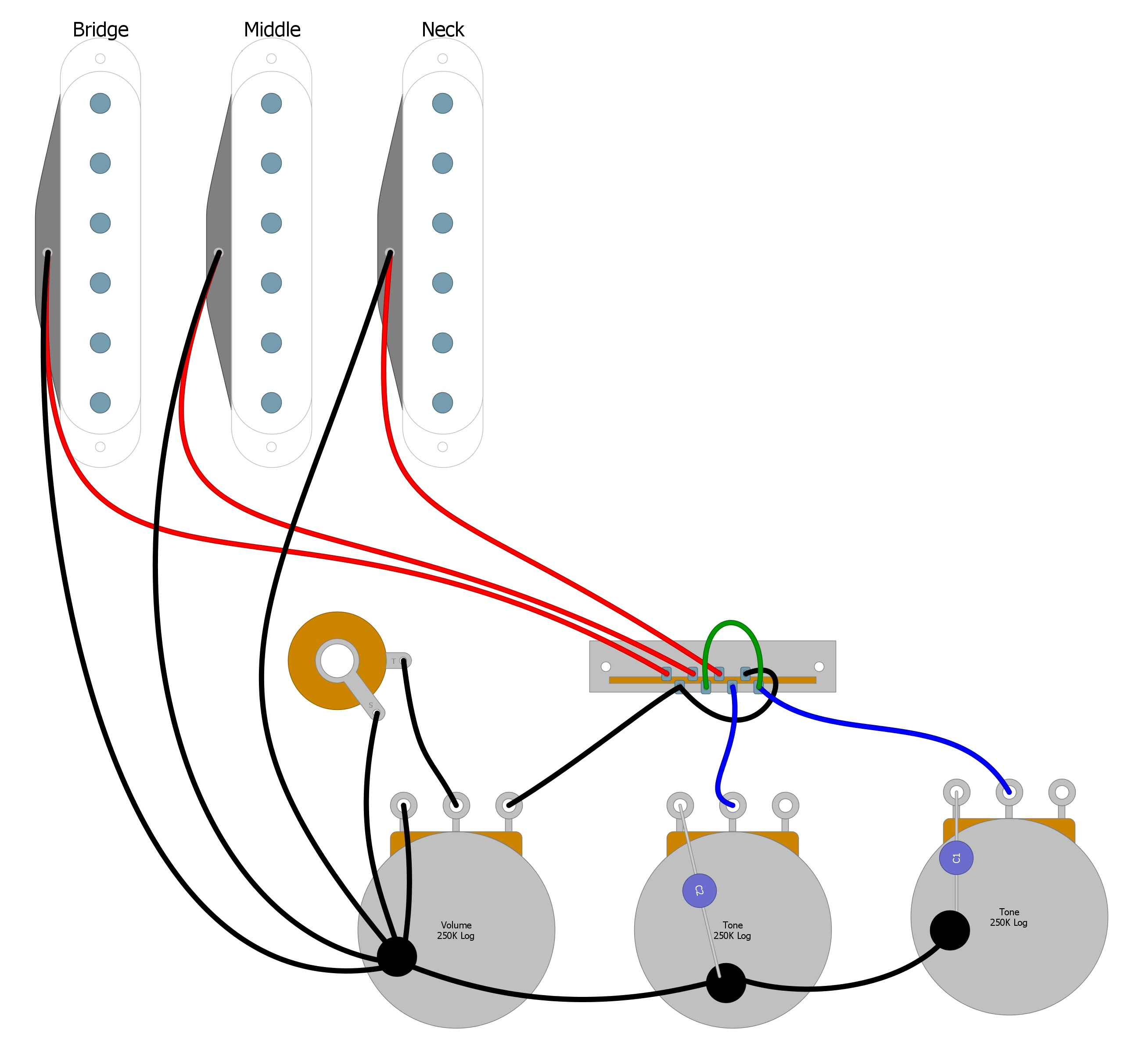 Fender Strat Wiring Diagram from humbuckersoup.com