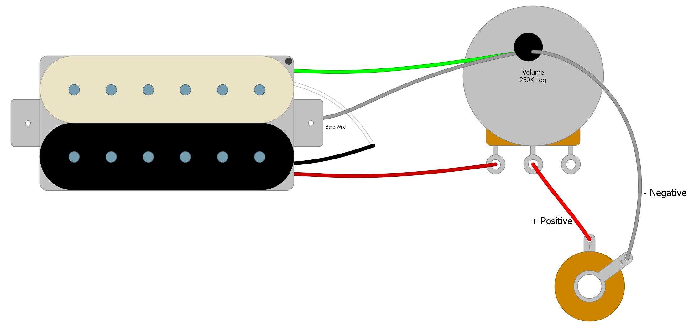 Is Start Negative On A Guitar Wiring Diagram from humbuckersoup.com