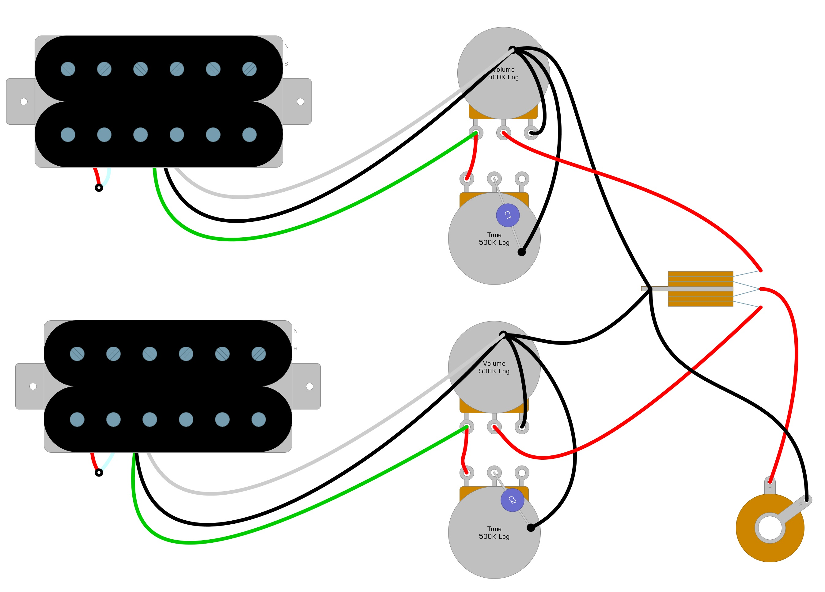 Les Paul Wiring Diagram – Humbucker Soup | Guitar Wire Harness Schematic |  | Humbucker Soup