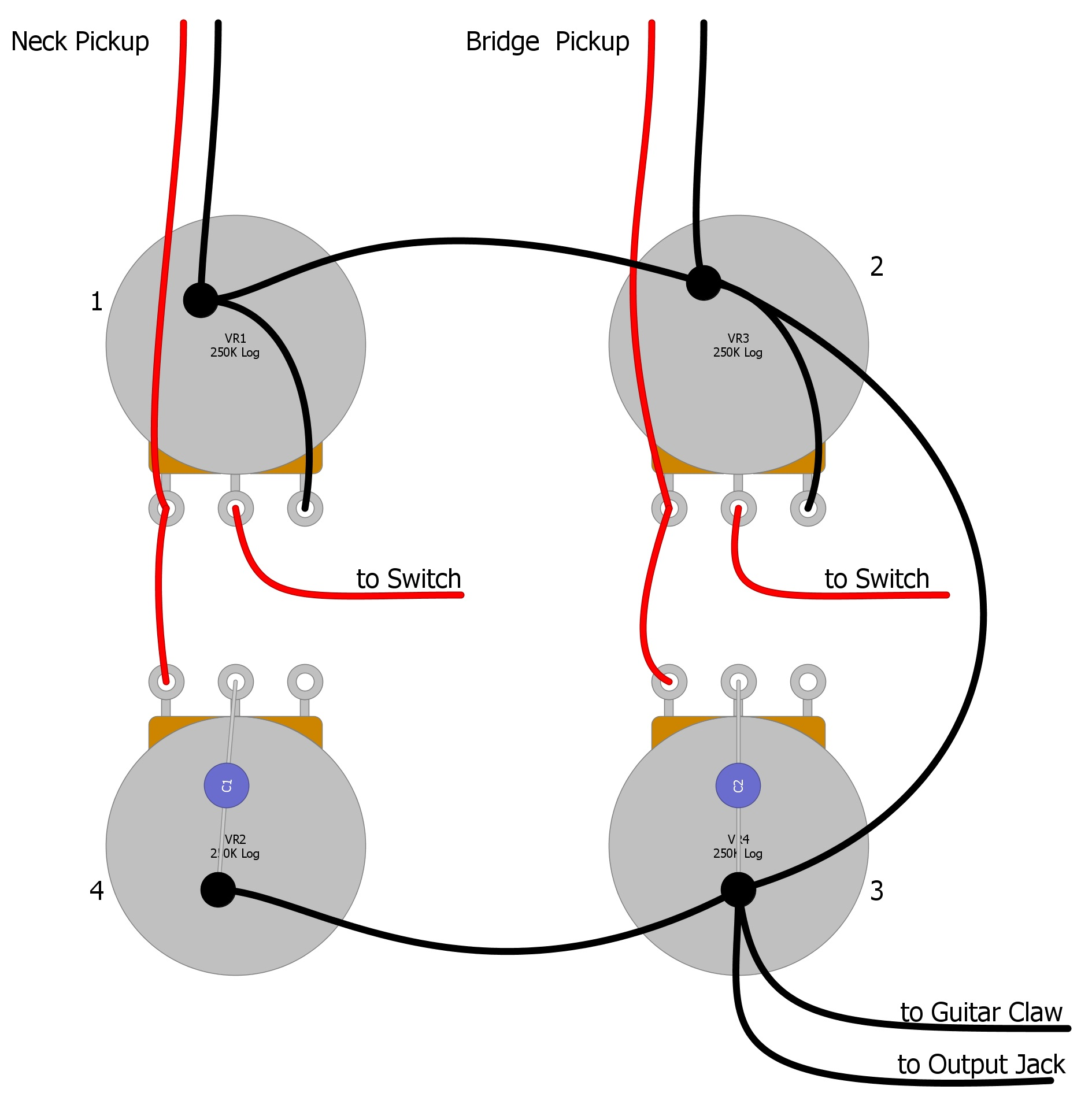 Guitar Output Cord Wiring Diagram from humbuckersoup.com