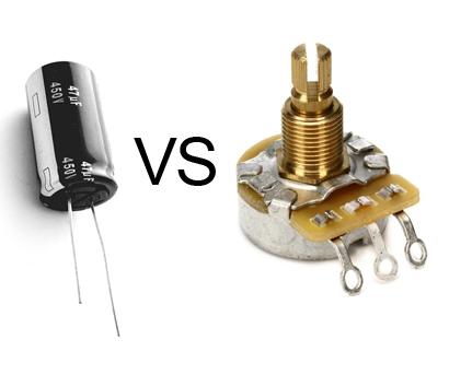 capacitors vs potentiometers