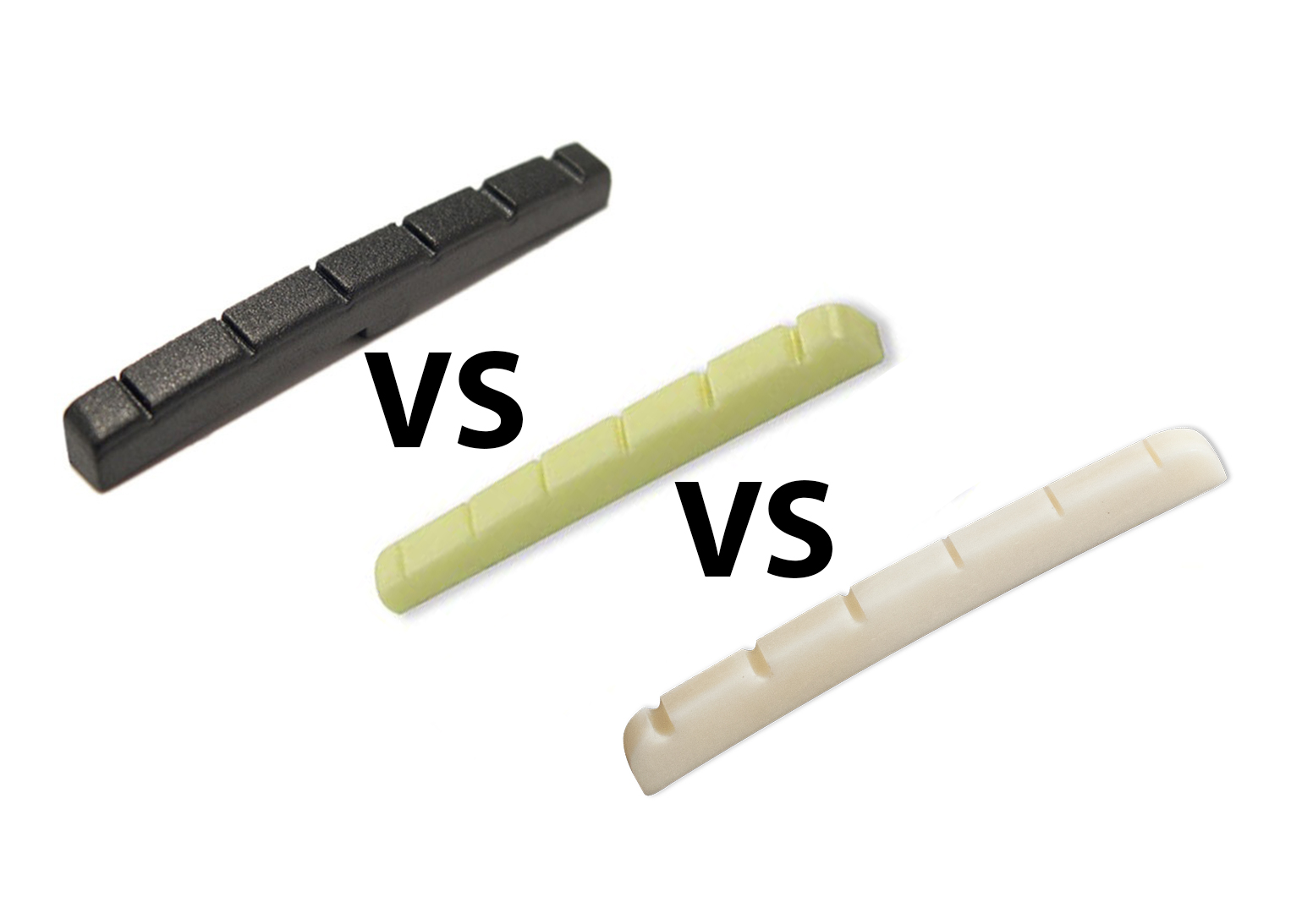 graphite vs plastic vs bone nuts