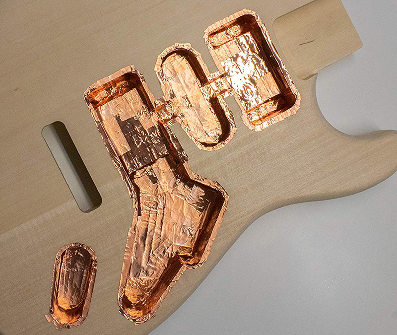 shielded guitar cavity